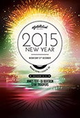 2015 New Year Flyer Template