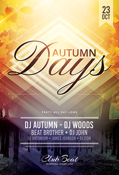 Autumn Days Flyer Template