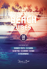 Beach Vibes Flyer Template