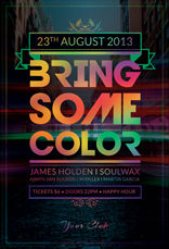 Bring Some Color Party Flyer