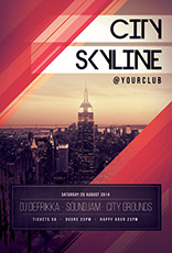 City Skyline Flyer Template