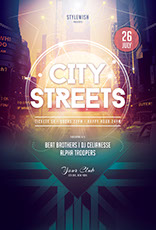 City Streets Flyer Template