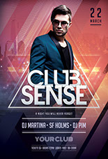 Club Sense Flyer Template