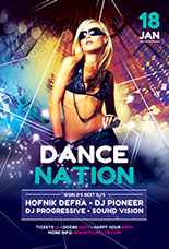 Dance Nation Party Flyer