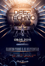 Deep Techno Flyer Template