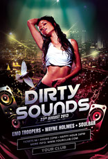 Dirty Sounds Party Flyer Template