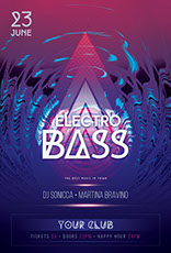 Electro Bass Flyer Template
