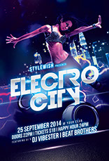 Electro City Flyer Template