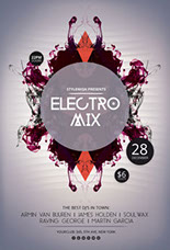 Electro Mix Party Flyer