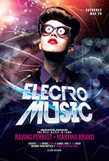 Electro Music Party Flyer