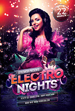 Electro Nights Party Flyer Template