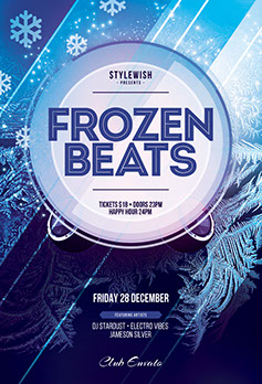 Frozen Beats Flyer Template