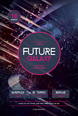 Future Galaxy Party Flyer