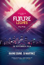 Future Lights Flyer Template
