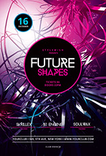 Future Shapes Party Flyer