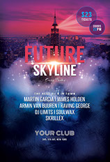 Future Skyline Party Flyer Template