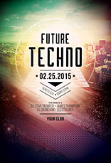 Future Techno Flyer Template