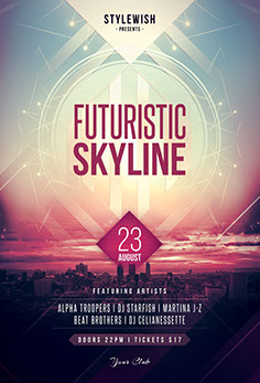 Futuristic Skyline Flyer Template