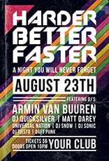 Harder Better Faster Party Flyer