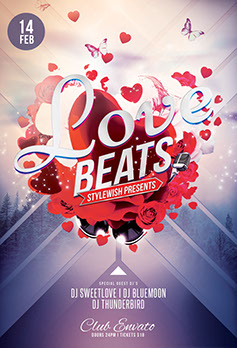 Love Beats Flyer Template