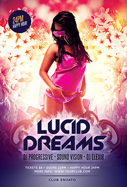 Lucid Dreams Party Flyer Template