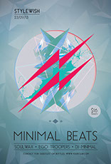 Minimal Beats Party Flyer