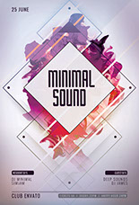 Minimal Sound Party Flyer