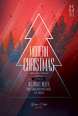 Modern Christmas Flyer Template