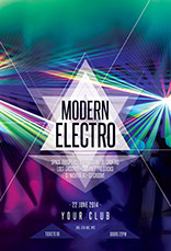 Modern Electro Flyer Template