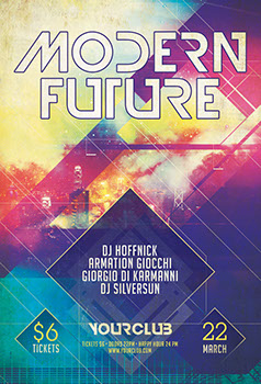 Modern Future Party Flyer Template