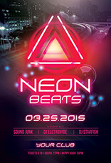 Neon Beats Flyer Template