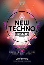 New Techno Flyer Template
