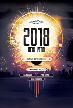 2016 New Year Flyer Template
