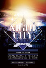 Night City Flyer Template