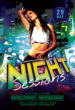 Night Sessions Party Flyer