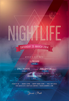 Nightlife Party Flyer