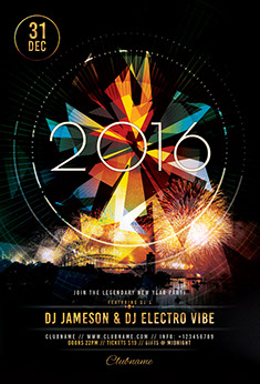2017 NYE Flyer Template