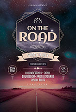 On The Road Flyer Template