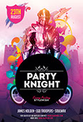 Party Knight Party Flyer