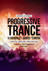 Progressive Trance Party Flyer Template