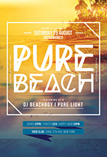 Pure Beach Flyer Template