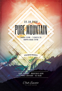Pure Mountain Flyer Template