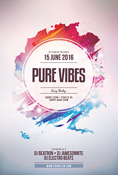 Pure Vibes Flyer Template