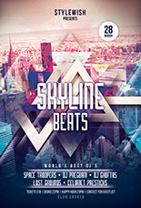 Skyline Beats Party Flyer