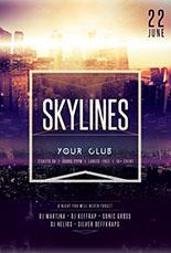 Skylines Flyer Template