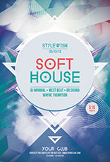 Soft House Party Flyer Template