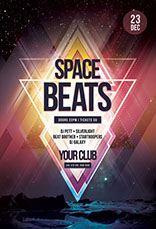 Space Beats Flyer Template