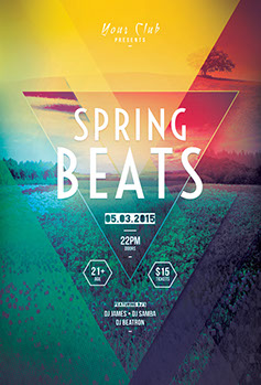 Spring Beats Flyer Template