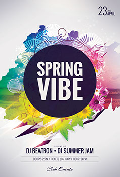Spring Vibe Flyer Template