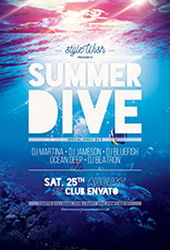 Summer Dive Flyer Template